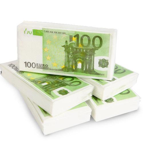 Servilletas de Papel 100 Euros H0500119
