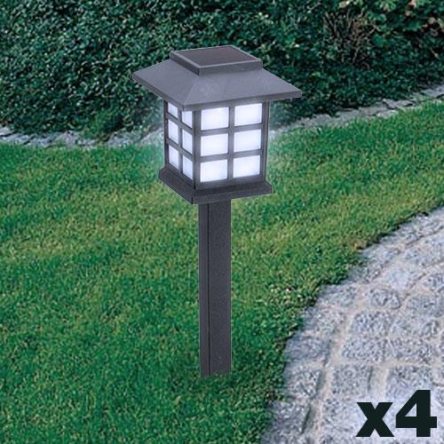Lampara Solar Jardin (pack de 4) D3000183