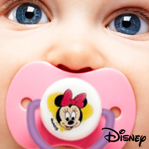 Set Chupete  +  Sujeta Chupete Minnie Disney H4502001