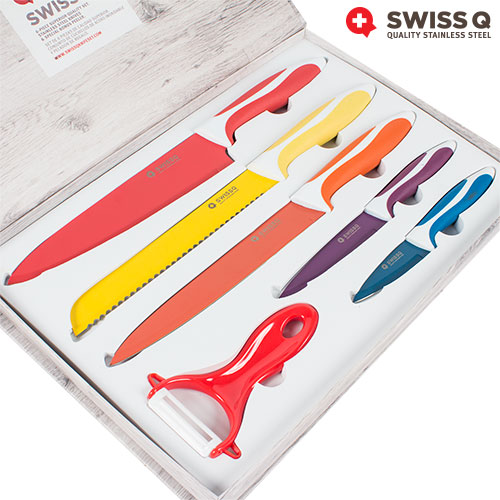Cuchillos con Revestimiento Ceramico Swiss Q (6 piezas) B1005120
