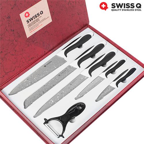 Cuchillos con Revestimiento de Piedra Swiss Q (6 piezas) B1005125
