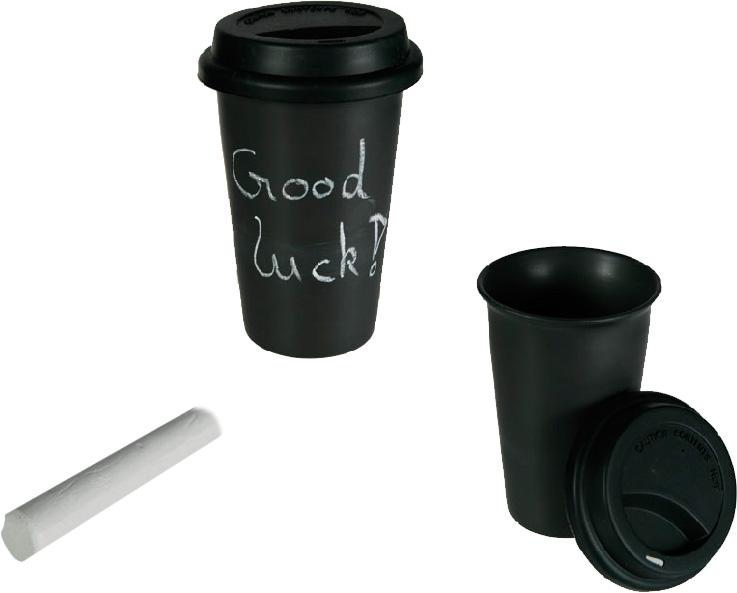 Taza Ceramica Coffee to Go con Tiza y Tapa de Silicona B1020127