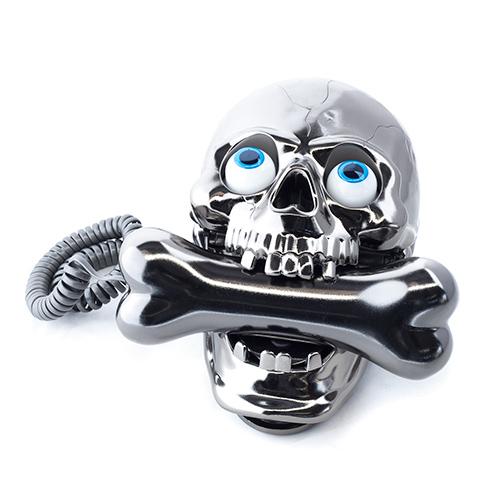 Telefono Calavera con Hueso Cromado I3000190