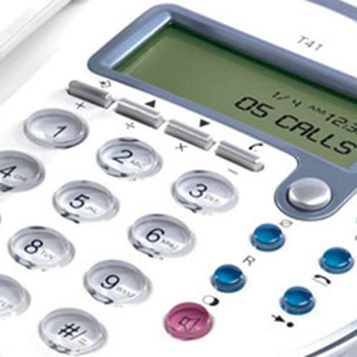 TopCom T41 Stacionarni Telefon - Bela