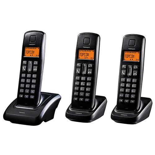 Pack de 3 Telefonos Inalambricos TopCom Dect Butler E700 I3000299