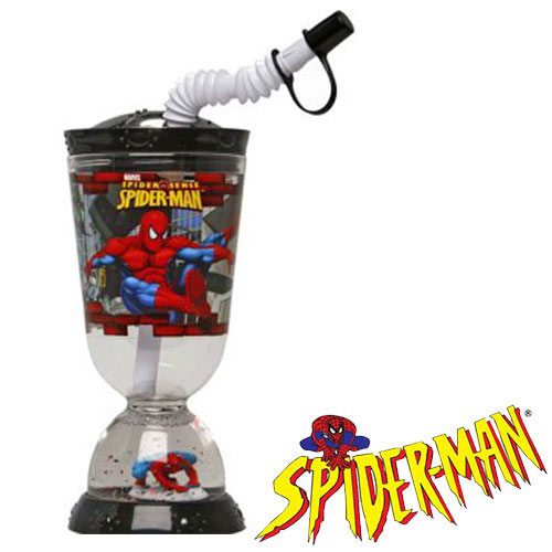 Vaso Base con Pajita Spiderman 275 ml H4502010