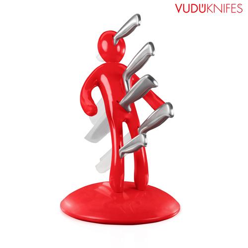 Portacuchillos Vudu Knives (5 piezas) Negro B1005123