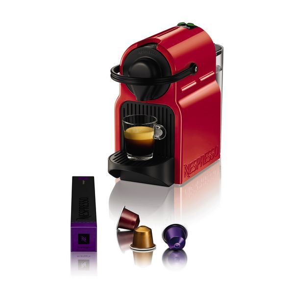 Krups Inissia XN1005 Ruby Red Pod coffee machine 0.7L Red