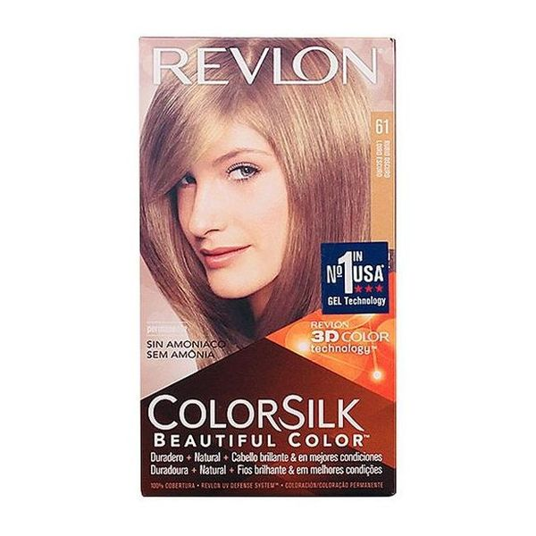Barva za lase brez amonijaka Colorsilk Revlon Temno blond