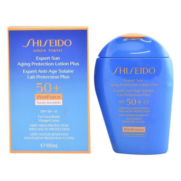 Lozione Solare Expert Sun Aging Protection Shiseido Spf 50 (100 ml)