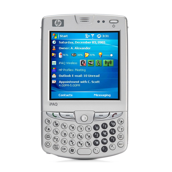 """HP iPAQ hw6515 Intel 312MHz 64 M 3.0"""" QVGA TFT W Mobile™ 2003 Phone Edition Mobile Messenger"""