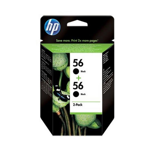 Cartucho de Tinta Original HP C9502AE 56 Pack 2 pcs Negro