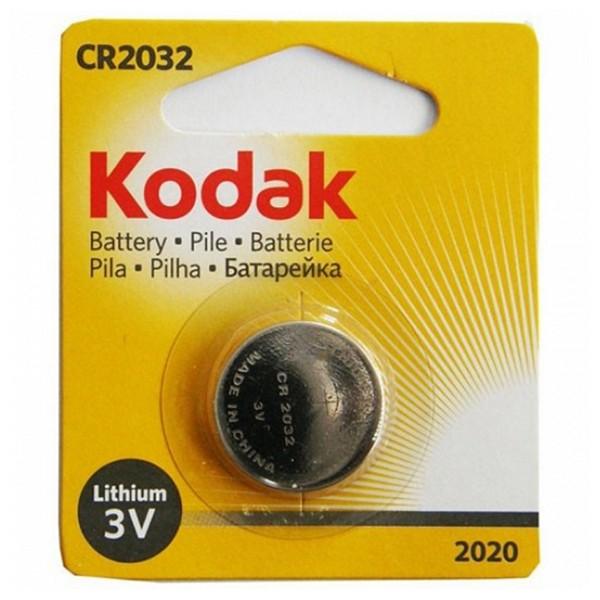 Pila de Botón de Litio Kodak CR2032 3 V Plata