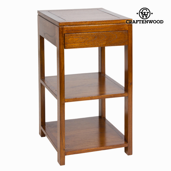 Pomožna miza s predalom iz oreha - Serious Line Zbirka by Craften Wood