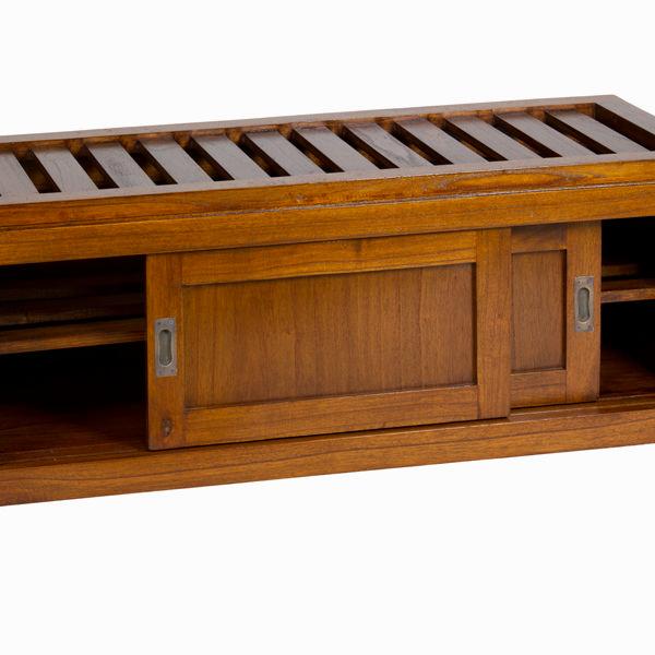 Baúl con cajón y cojín nogal - Colección Serious Line by Craftenwood (2)