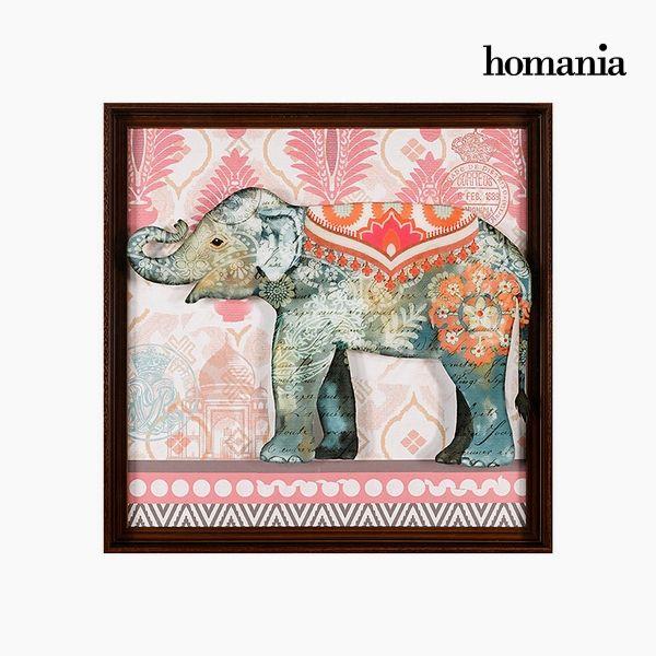 Cuadro Acrílico Elefante (71 x 71 cm) by Homania