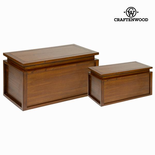 Juego de 2 baúles en madera - Colección Let's Deco by Craftenwood