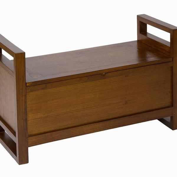 Banco tapizado con cajón - Colección Let's Deco by Craftenwood (3)