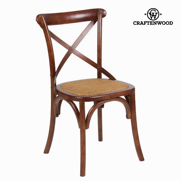 Leseni stol s križem na naslonu by Craften Wood