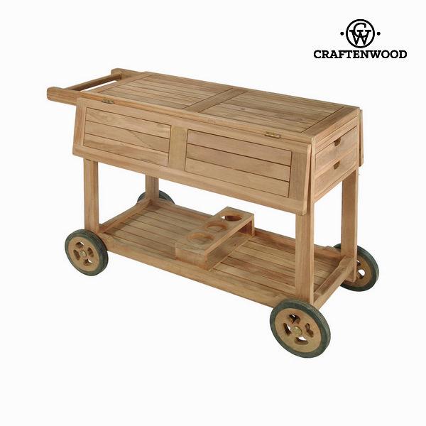 Servirni voziček iz tikovega lesa by Craften Wood