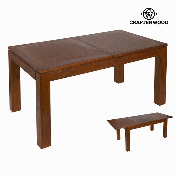 Raztegljiva miza v orehovi barvi nature - Nogal Zbirka by Craften Wood