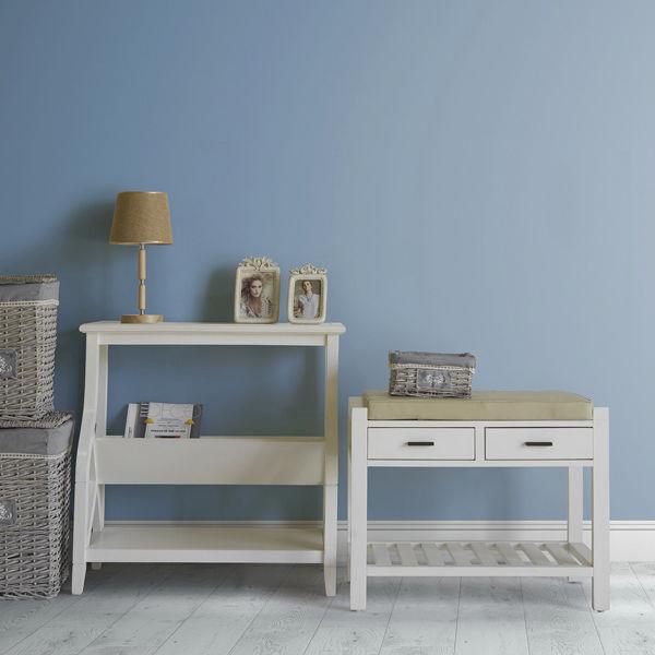 Mueble revistero color blanco - Colección Serious Line by Homania (1)