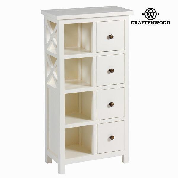 Belo pohištvo z 4 predali - Franklin Zbirka by Craften Wood