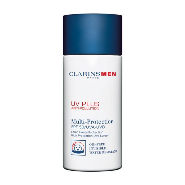 Protezione Solare Viso Men Uv Plus Clarins (50 ml)