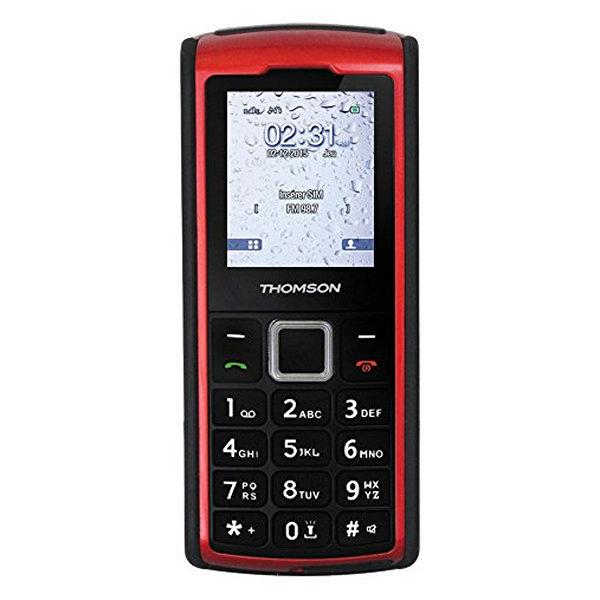 """TELéFONO MóVIL THOMSON NTETMO0715 TLINK20S VGA 2.0"""" 176 X 220 65K BLUETOOTH MICRO SD DUAL SIM FM ROJO"""