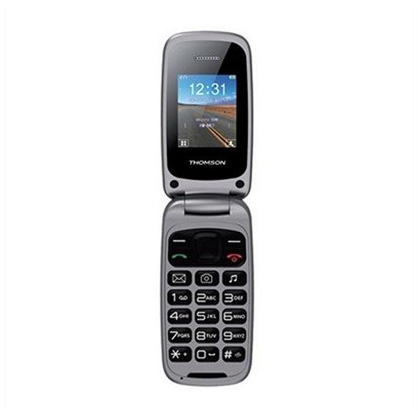 """TELéFONO MóVIL THOMSON NTETMO0720 TLINK40 VGA 1.8"""" (128 X 160) 65K BLUETOOTH MICRO SD DUAL SIM FM PLATEADO"""