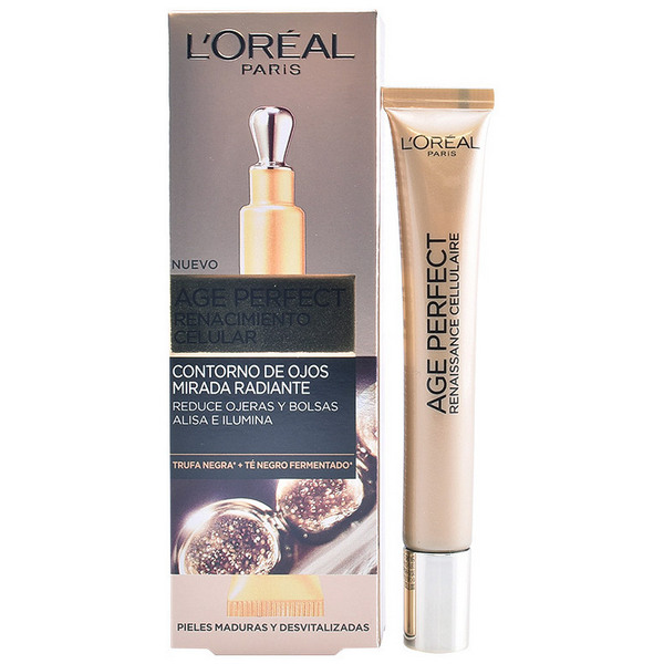 Gel per Contorno Occhi Age Perfect L'Oreal Make Up (15 ml)