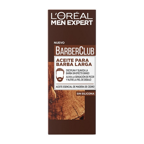 Olio per Barba Men Expert Barber Club L'Oreal Make Up (30 ml)