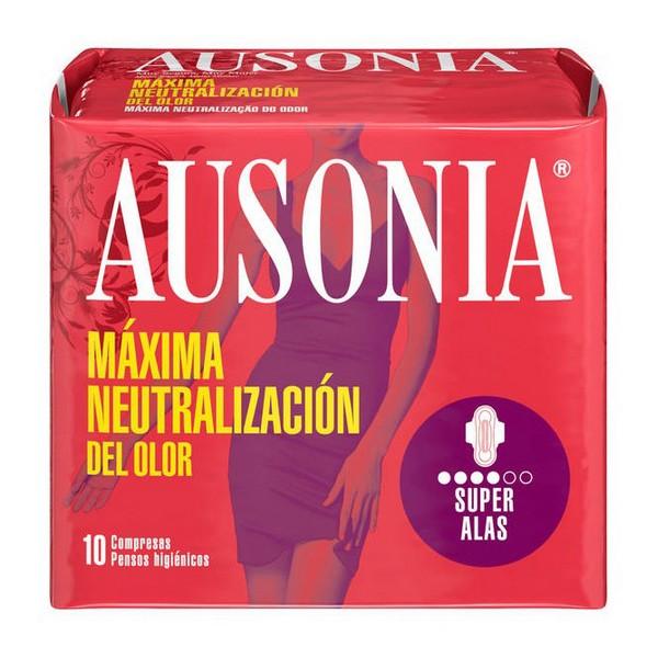 Higienski vložki s krilci Superplus Ausonia (10 uds)