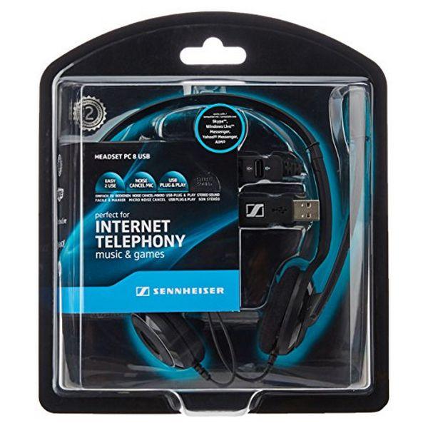 Auriculares con Micrófono Sennheiser PC 8 USB Negro