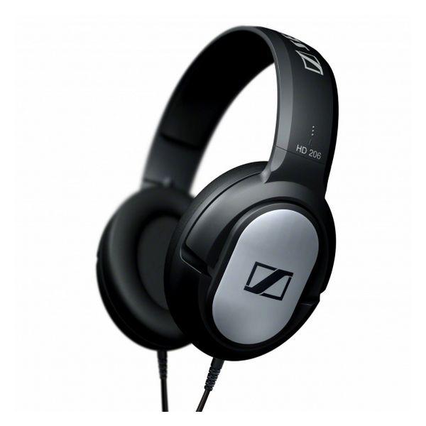 Auriculares de Diadema Sennheiser HD-206 108 dB Negro Plata