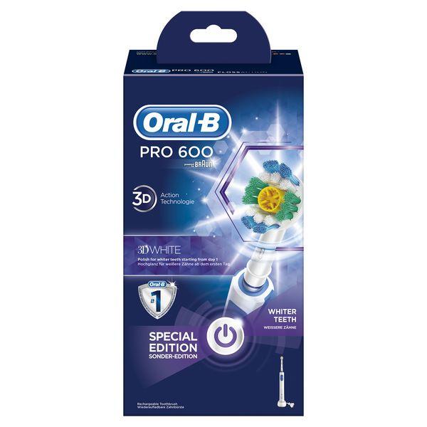 Cepillo de Dientes Eléctrico Oral-B 600 Pro Azul Blanco (1)
