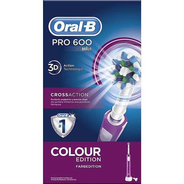 Cepillo de Dientes Eléctrico Oral-B 600 Pro Púrpura (4)