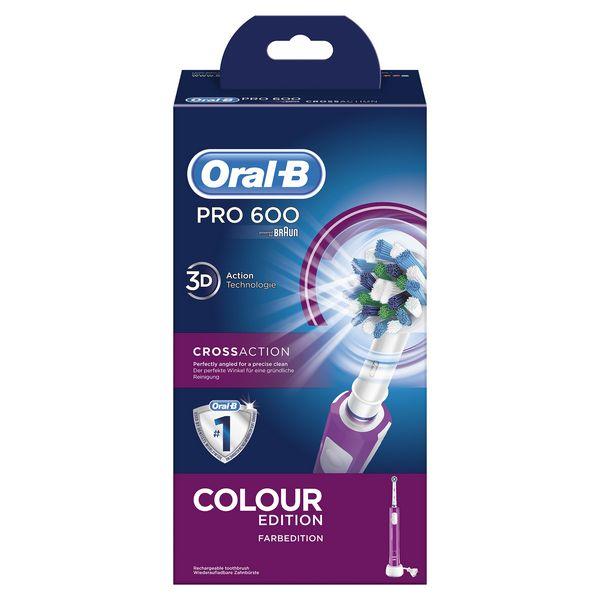 Cepillo de Dientes Eléctrico Oral-B 600 Pro Púrpura (3)
