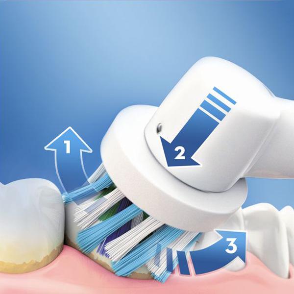 Cepillo de Dientes Eléctrico Oral-B 600 Pro Blanco Naranja (1)