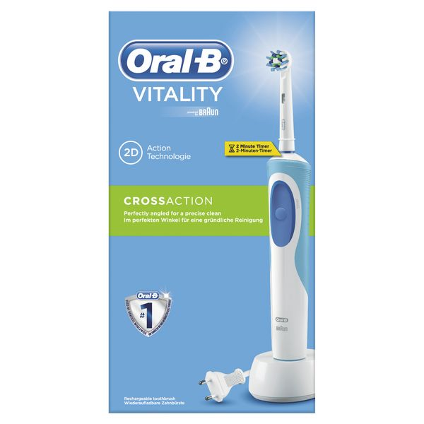 Cepillo de Dientes Eléctrico Oral-B CrossAction Vitality Blanco (3)