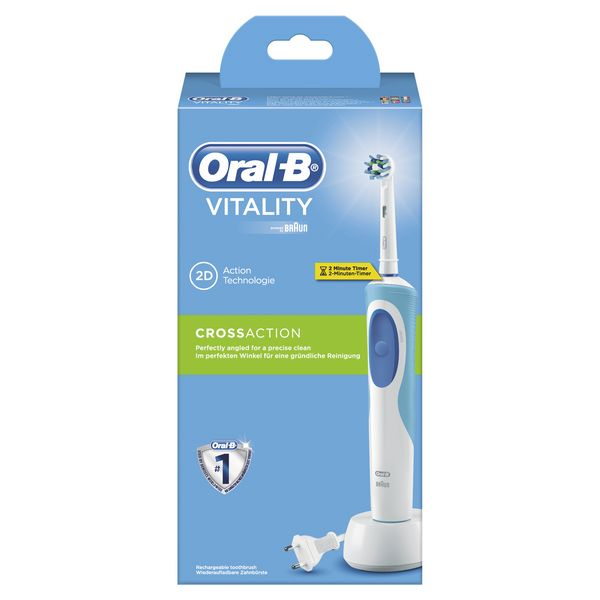Cepillo de Dientes Eléctrico Oral-B CrossAction Vitality Blanco (2)