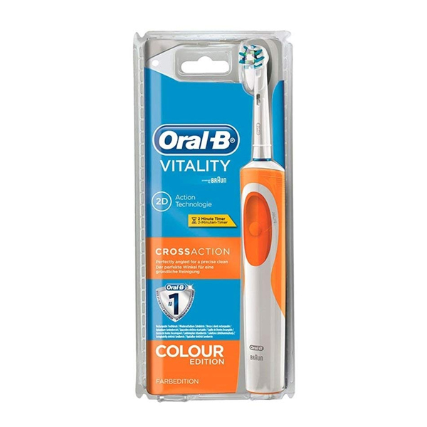 Spazzolino da Denti Vitality Cross Action Oral-B Arancio
