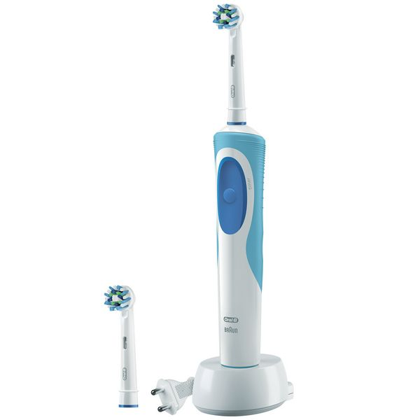 CEPILLO DE DIENTES ELéCTRICO ORAL-B CROSSACTION PLUS VITALITY AZUL BLANCO