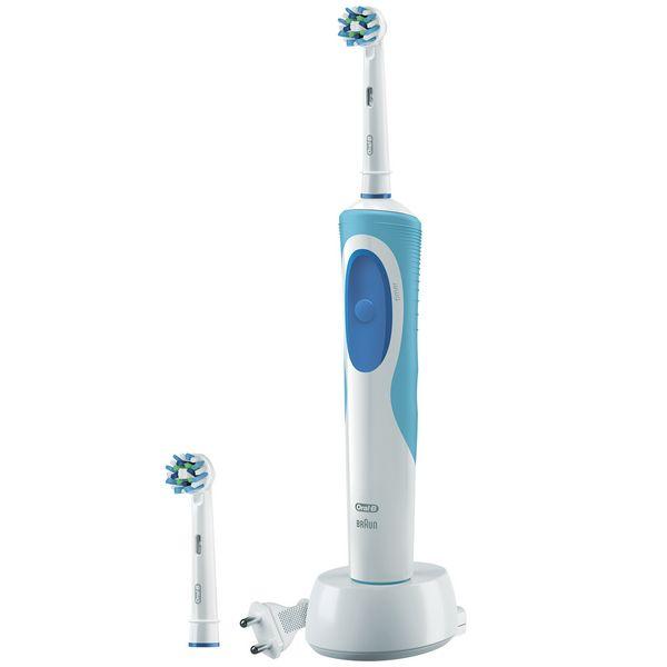 Cepillo de Dientes Eléctrico Oral-B CrossAction Plus Vitality Azul Blanco