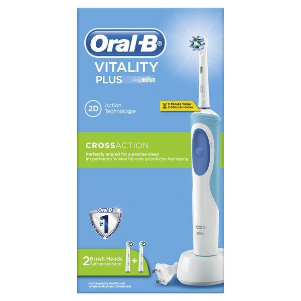 Cepillo de Dientes Eléctrico Oral-B CrossAction Plus Vitality Azul Blanco (3)