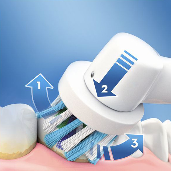 Cepillo de Dientes Eléctrico Oral-B 750 CrossAction Pro Negro Blanco (1)