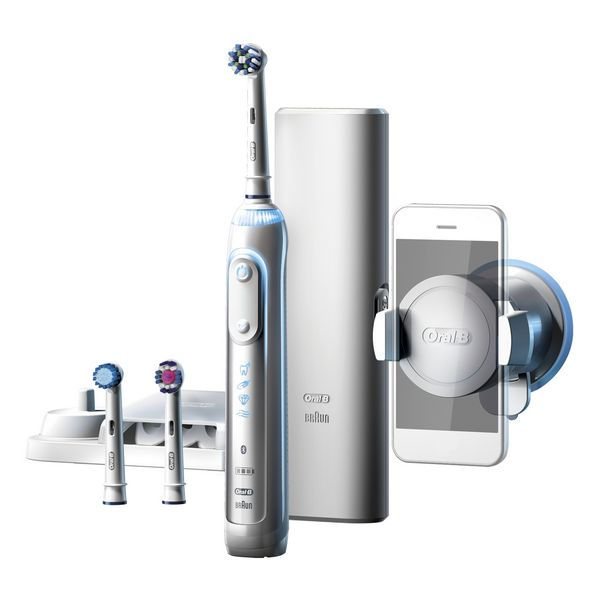 Cepillo de Dientes Eléctrico Oral-B 224133 Bluetooth 3D Waterproof Blanco Batería recargable