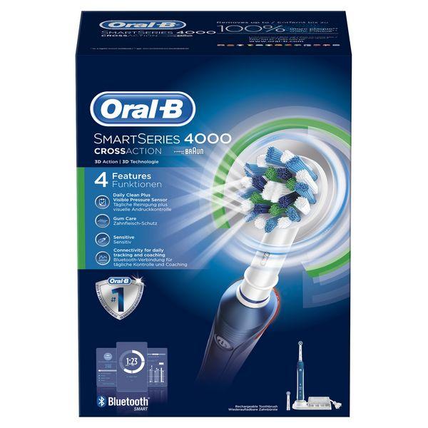 Cepillo de Dientes Eléctrico Oral-B Pro 4000 SmartSeries Azul Blanco (2)