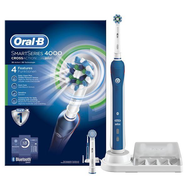 Cepillo de Dientes Eléctrico Oral-B Pro 4000 SmartSeries Azul Blanco (1)