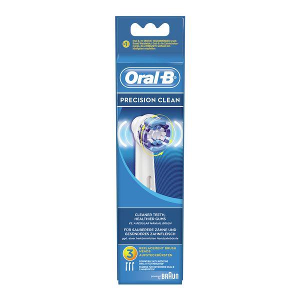 Recambio para Cepillo de Dientes Eléctrico Oral-B Precision Clean 3 pcs (6)